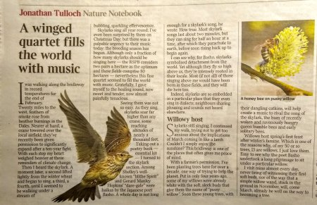 Nature notebook from the Times March 2, 2019